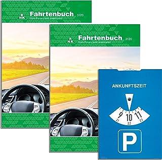 RNK   Verlag 3120/2   Fahrtenbuch für Pkw mit extra Parkscheibe (RNK   3120/2), für insgesammt 1054 Fahrten, steuerlicher Kilometernachweiß, DIN A5, 1 Stück