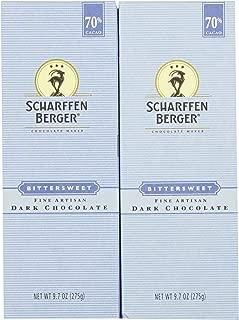 Scharffen Berger Baking Bar, Bittersweet Dark Chocolate (70% Cacao), 9.7-Ounce Packages (Pack of 2)