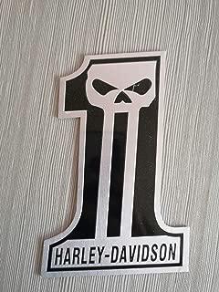1pcs emblem is for Harley's Skull Punisher Metal Rider Emblem(sliver)