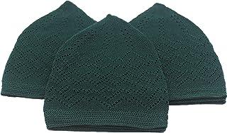 الامين 3X قبعة إسلامية مسلم قبعة الصلاة الكوفية قبعة الكروشيه الطاقية ذات الجمجمة