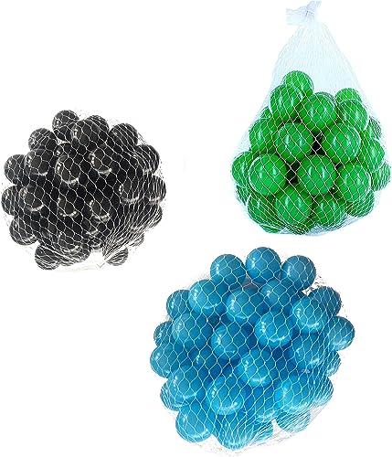 liquidación hasta el 70% Pelotas para para para pelotas baño variadas Mix con turquesa, verde y negro Talla 6000 Stück