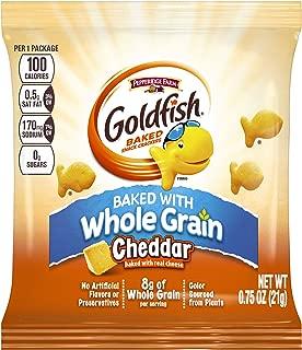 Pepperidge Farm 100 Calorie Whole Grain Cheddar Goldfish, 100-Count Pouches