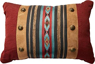 Veratex The Santa Fe Collection 100% Polyester Decorative Bedroom Tribal Southwestern Boudoir Pillow, Rust