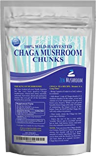 Ultra Premium Chaga Mushroom from Maine and Canada. Make 50+ Cups of Natural Tea. Wild Harvested, Organic. 4 Oz. Make Extract, Powder. Highest Antioxidants, Sustainably Harvested. Never Cultivated.