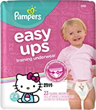Pampers Easy Ups Training Underwear Girls 3T-4T (Size 5), 23 Count