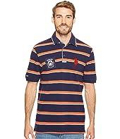 U.S. POLO ASSN. Classic Fit Striped Short Sleeve Pique Polo Shirt