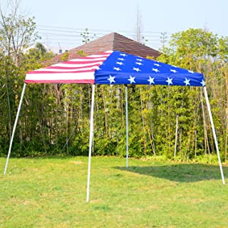 New American flag 10'x10' EZ Pop Up Canopy Wedding Party Tent Outdoor Folding Patio Gazebo Shade Shelter