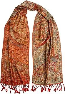 Bohomonde Rajana Scarf, Pashmina Indian Paisley Traditional Jacquard Scarf