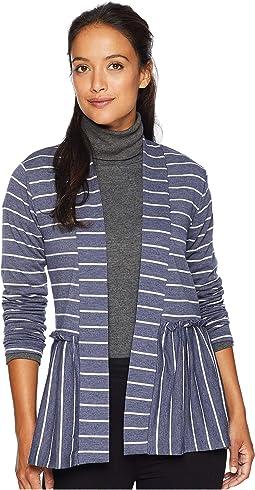 Stripe Peplum Cardigan