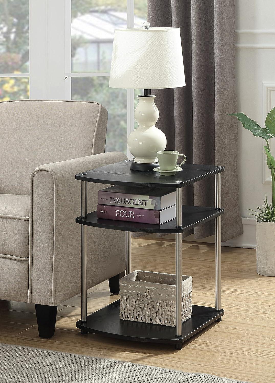 Convenience Concepts 131045BL End Table Black Woodgrain