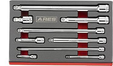 ARES 70330 | 9-Piece Wobble Extension Set | Premium Chrome Vanadium Steel Construction |..