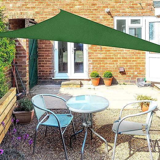 OKAWADACH Sonnensegel, Polyester Sonnensegel Sonnenschutz Garten Balkon und Terrasse wetterbeständig mit UV Schutz Windschutz für Garten Terrasse…
