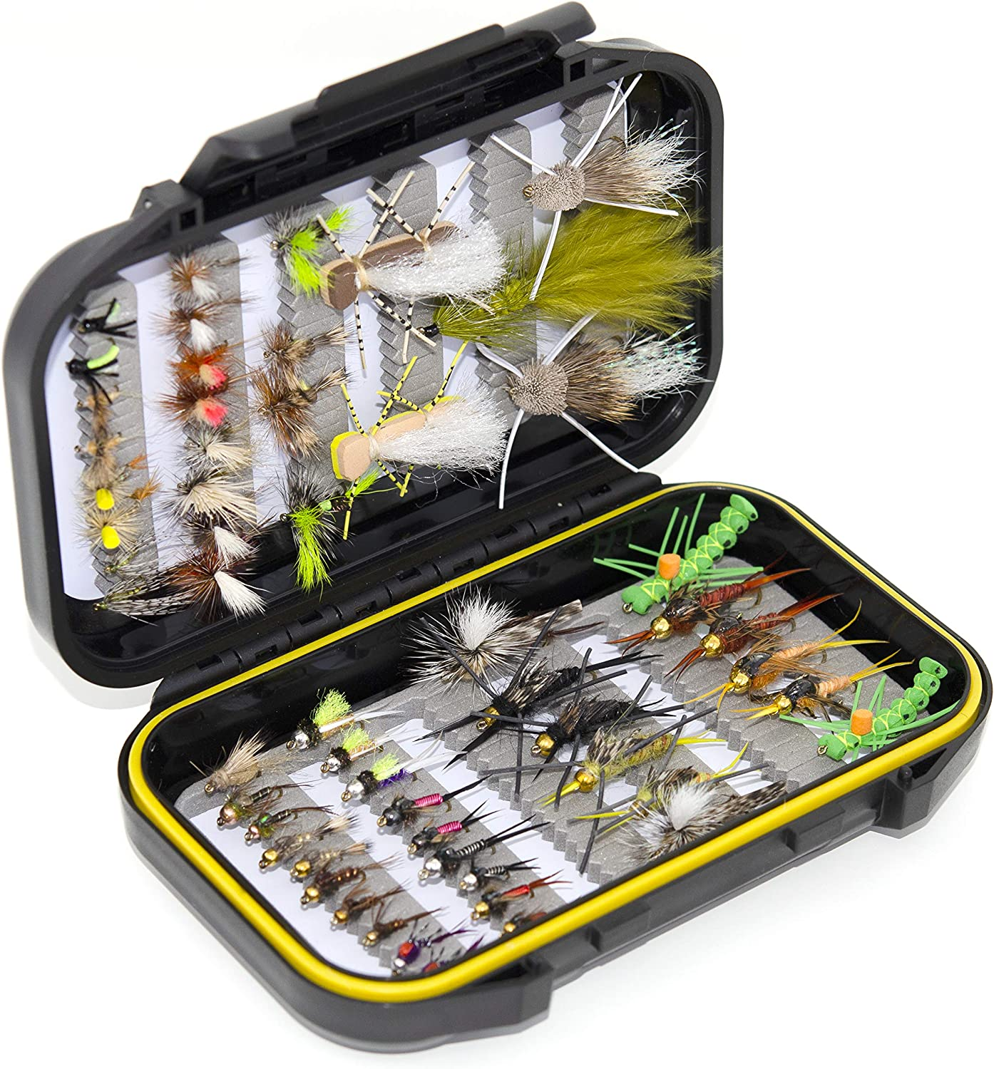 56 Assorted Trout Fly Kit Inventory cleanup selling sale Waterproof High order Flies Fishing