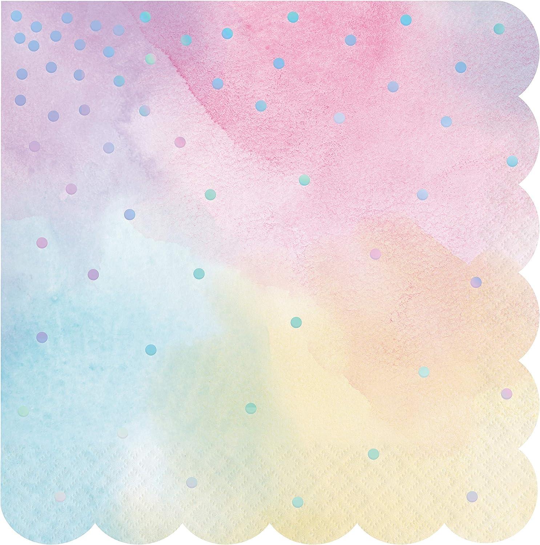 Creative Congreening 336698case Iridescent Party Servietten Papier purplet
