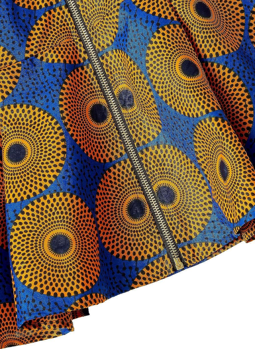 HongyuAmy Women African Print Coat Ankara Long Sleeve Short Casual Jacket