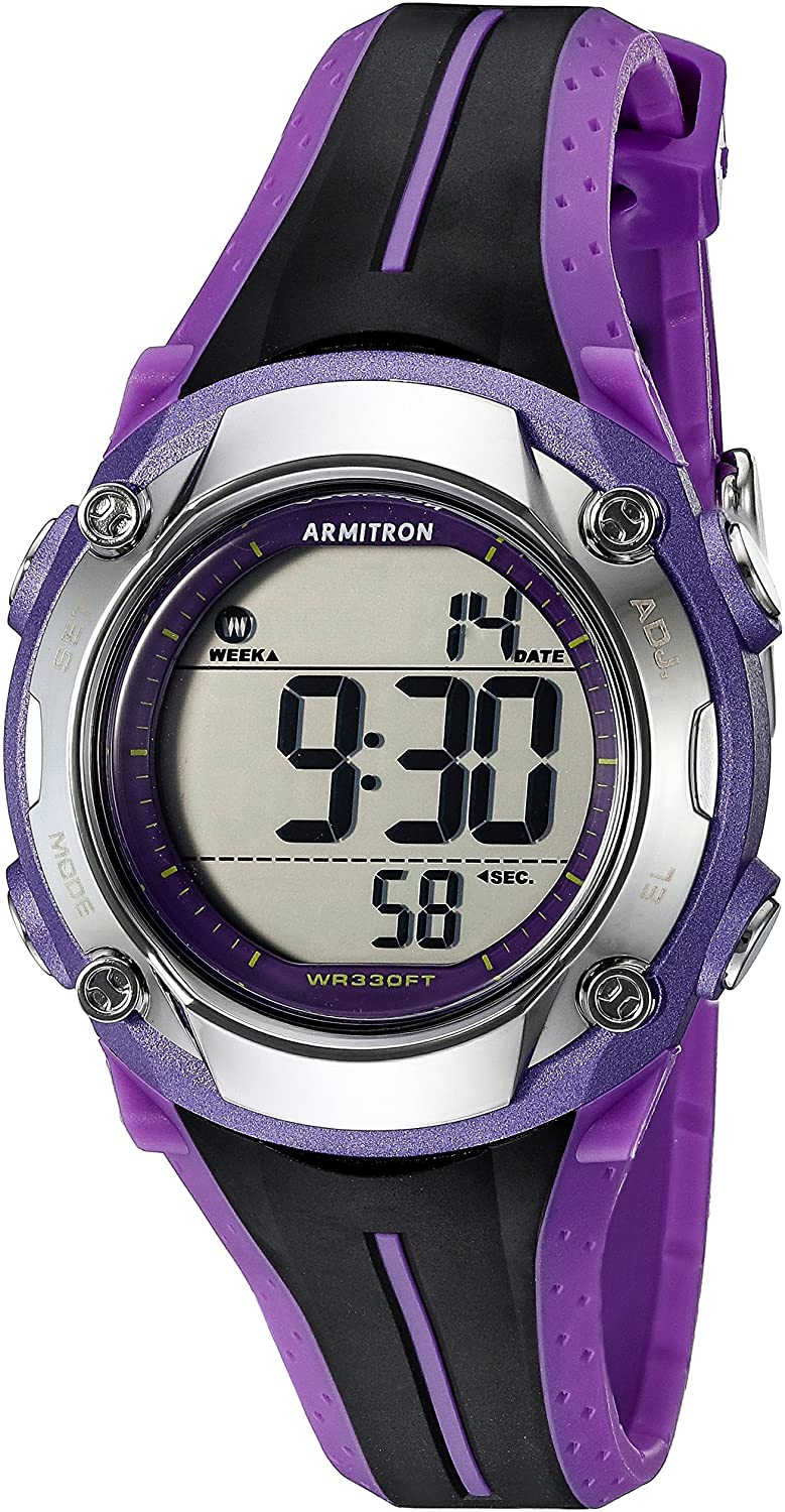 Free shipping Armitron Sport Max 70% OFF Women's 45 7063PUR Digital and Chronograph Black