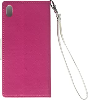 Eagle Cell Flip Wallet PU Leather Protective Case for HTC Desire 816 - Retail Packaging - White/Hot Pink