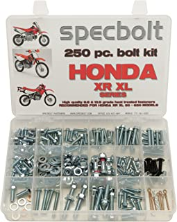 250pc Specbolt Fasteners Brand Bolt Kit fits: XR50 XR80 XR100 XR185 XR200 XR250 XR400 XR500 XR600 XR650 and XR XL Models 50 80 100 185 200 250 400 500 600 650