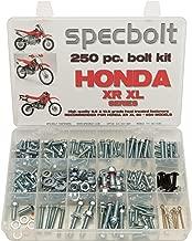 250pc Specbolt Fasteners Brand Bolt Kit fits: XR50 XR80 XR100 XR185 XR200 XR250 XR400 XR500 XR600 XR650 and XR XL Models 50 80 100 185 200 250 400 500 600 650