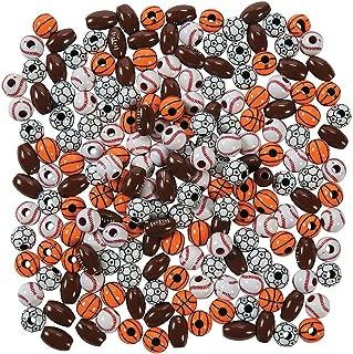 Fun Express Sport Ball Bead Assortment (200 Pieces) Bulk Craft Supplies