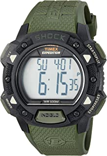 Men's Expedition Digital Shock CAT Resin Strap Watch