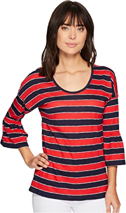 MICHAEL Michael Kors - Rugby Stripe Scoop Top