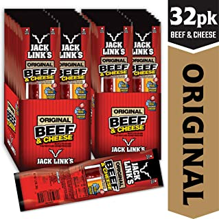 Jack Link's Original Beef & Cheese Combo Pack, 1.2 oz., Pack of 32(16 Each) – Original 100% Beef Stick and Cheese Stick Made with Real Wisconsin Cheese - 7g Protein, Made with 100% Premium Beef