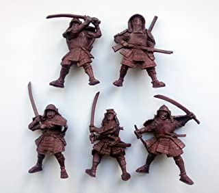 Fantasy Battles Samurai 54 mm 1/32 - 5 Fantasy Figures Tehnolog Russian Toy Soldiers