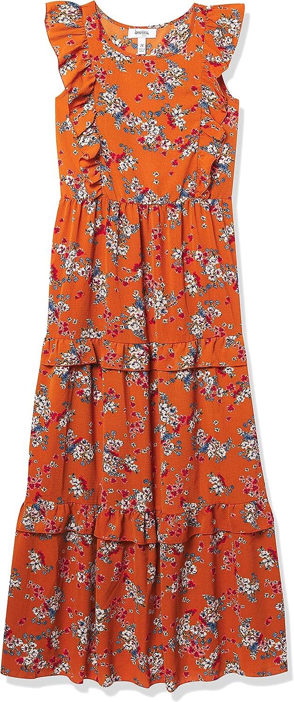 Speechless Girls' Short Sleeve Ruffled Maxi Dress