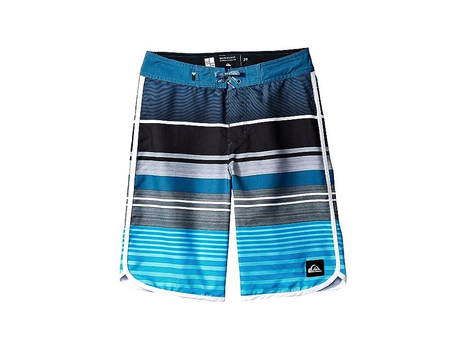 Quiksilver Kids Eye Scallop Boardshorts (Big Kids) (Atomic Blue) Boy