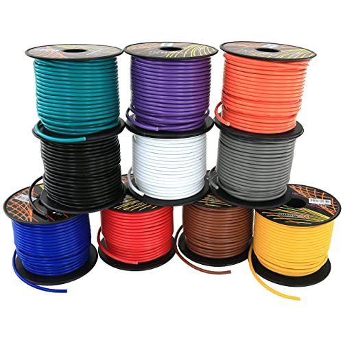 16 gauge primary remote wire 4 color combo   100 ft/color 400ft total (
