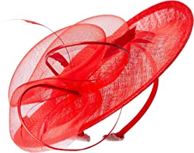 Morgan & Taylor Women's Adelaide Fascinator Fedoras & Trilby Hats, Red, One Size