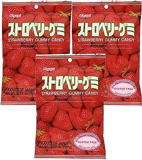 Kasugai Strawberry Gummy Candy 3.77oz (3 Pack)