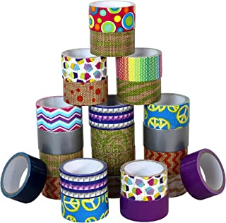Assorted Duct Tape Bulk Set Of Colored Duct Tape, 24 Random Rolls
