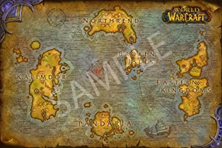 Best Print Store - World of Warcraft Map of Azeroth, Poster (13x19 inches)