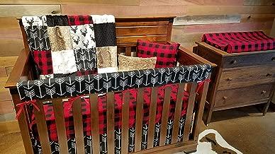 DBC Baby Bedding Co. Woodland Fawn 4 PC Set - Skirt, Sheet, Blanket, Long Rail Guard