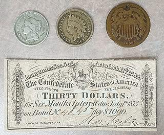 Civil War Authentic 4 Piece Collection with $30 Bond