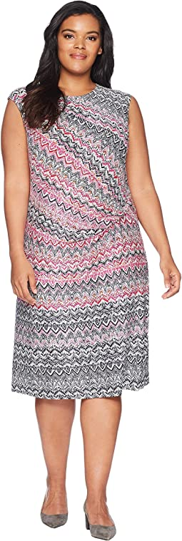Plus Size Spiced Up Twist Dress