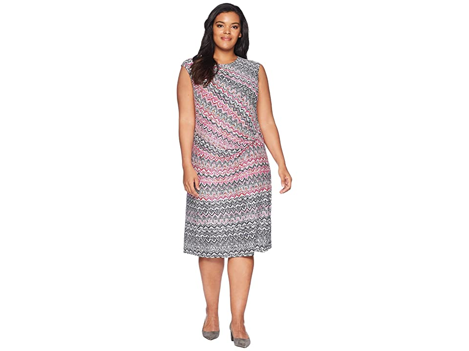 NIC+ZOE Plus Size Spiced Up Twist Dress (Multi) Women