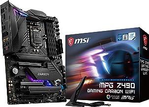 MSI MPG Z490 Gaming Carbon WiFi Gaming Motherboard (ATX, 10th Gen Intel Core, LGA 1200 Socket, DDR4, SLI/CF, Dual M.2 Slot...