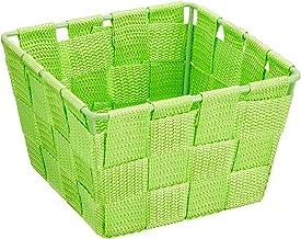 WENKO 20367100 Adria Mini kosz łazienkowy, kwadratowy, plecionka z tworzywa sztucznego, polipropylen, 14 x 9 x 14 cm