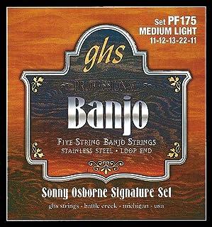 GHS BANJO - Stainless Steel String Set - 5-String - PF175 - Medium Light
