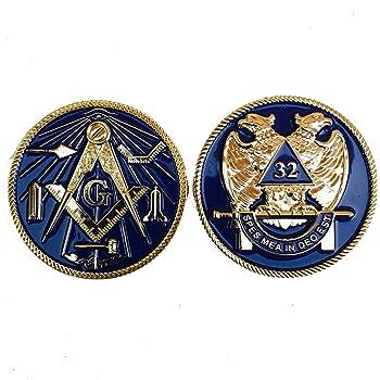 Scottish Rite 32ND Degree Auto Car Aluminum Emblem size 2.75 Equinox Masonic Regalia SREA-6512
