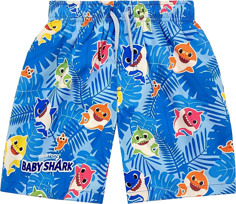 Baby Shark Daddy Shark Mommy Shark Baby Boys Swim Trunks Blue