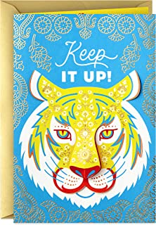 Hallmark Golden Thread Birthday Card (Tiger, Keep it Up)