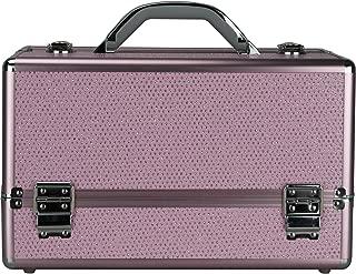 Hiker Basilica Makeup Case Professional Nail Travel Organizer Box, Pink Krystal, 7 Pound