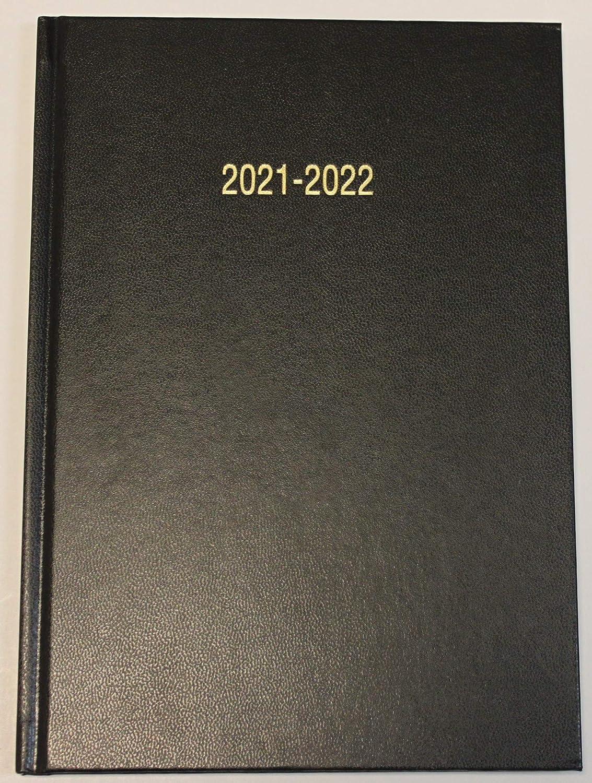 Noir Agenda scolaire semainier A4 milieu dann/ée ao/ût 2021 /à juillet 2022