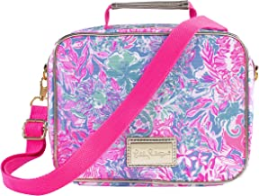 Lilly Pulitzer Thermal Insulated Lunch Bag with Adjustable/Removable Shoulder Strap, Viva La Lilly