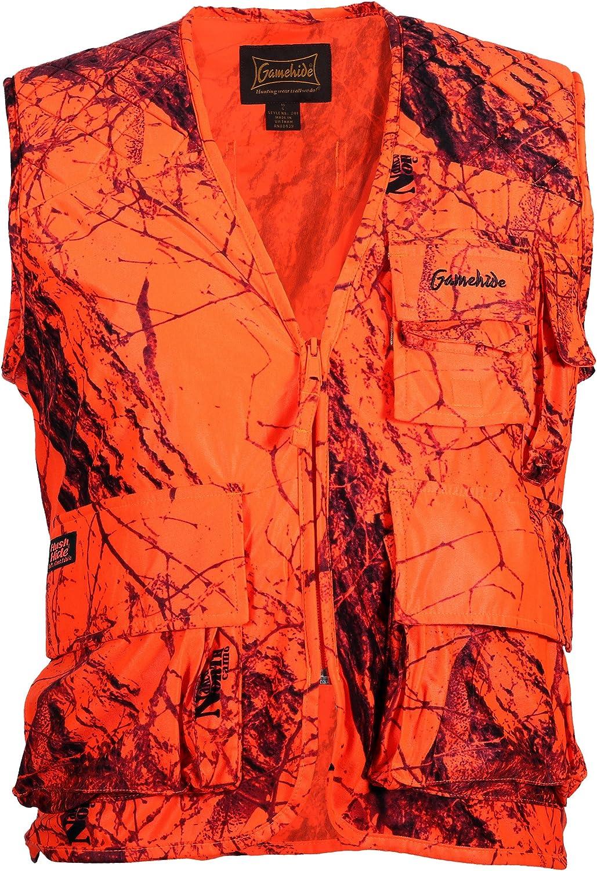 EBBQ Standard Hunting Vest, Blaze Camo, 2X