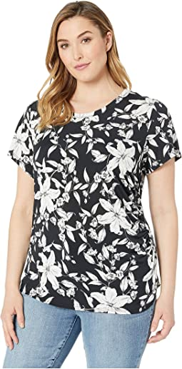 Plus Size Side-Shirred Top